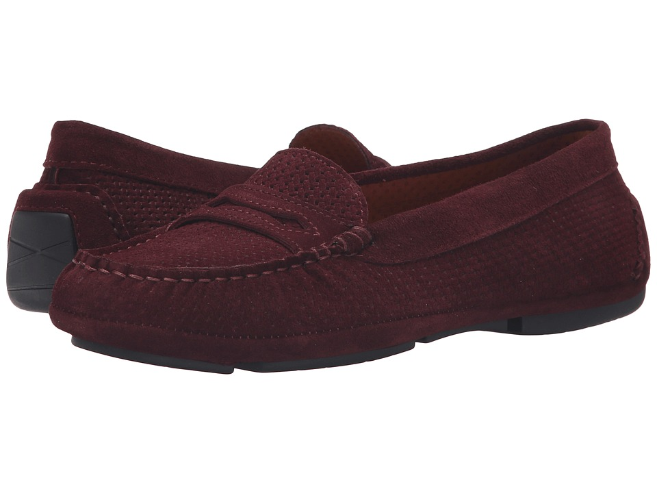 Aquatalia - Sawyer (Wine Suede) Women's Slip on Shoes