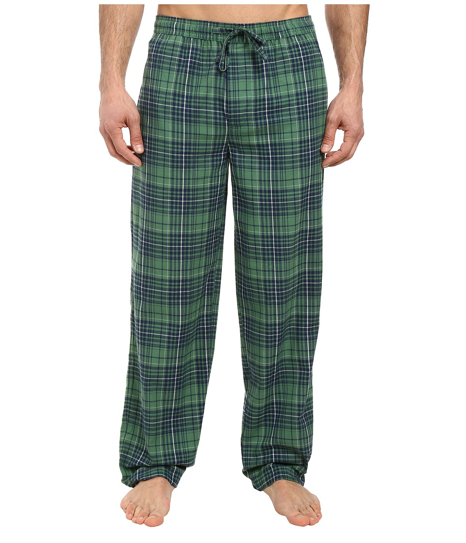 Life is good - Classic Sleep Pants (Green/Blue Plaid) Men's Pajama