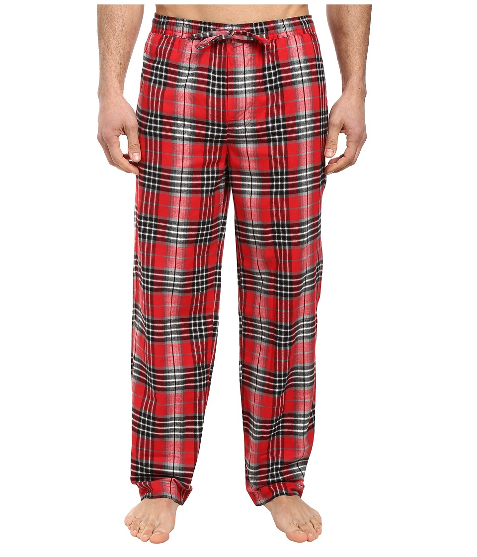 Life is Good - Classic Sleep Pants (Red/Gray Plaid) Men's Pajama