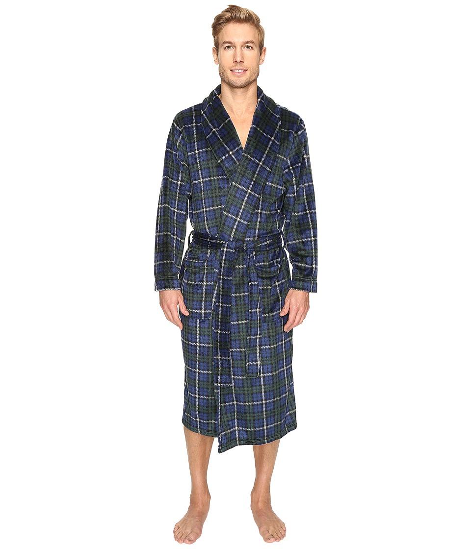 Jockey - Micro Poly Sueded Robe (Navy 1) Men's Robe