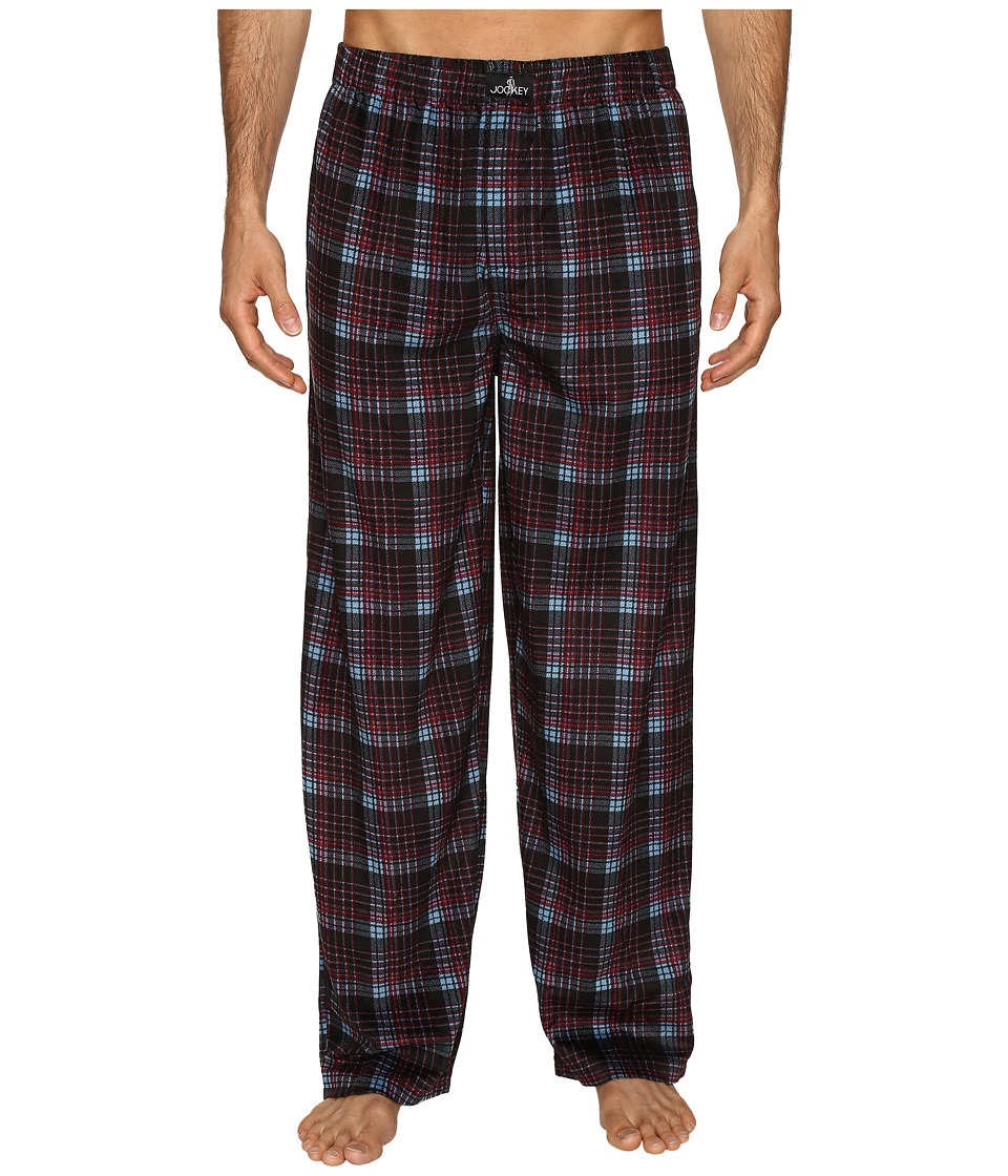 Jockey - Matt Silky Fleece Pants (Black) Men's Pajama