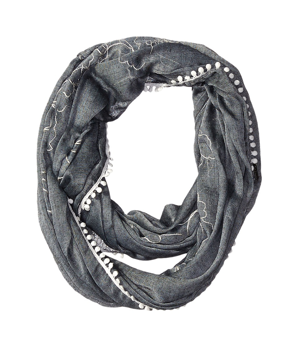 Calvin Klein - Embroidered Infinity Scarf (Black) Scarves