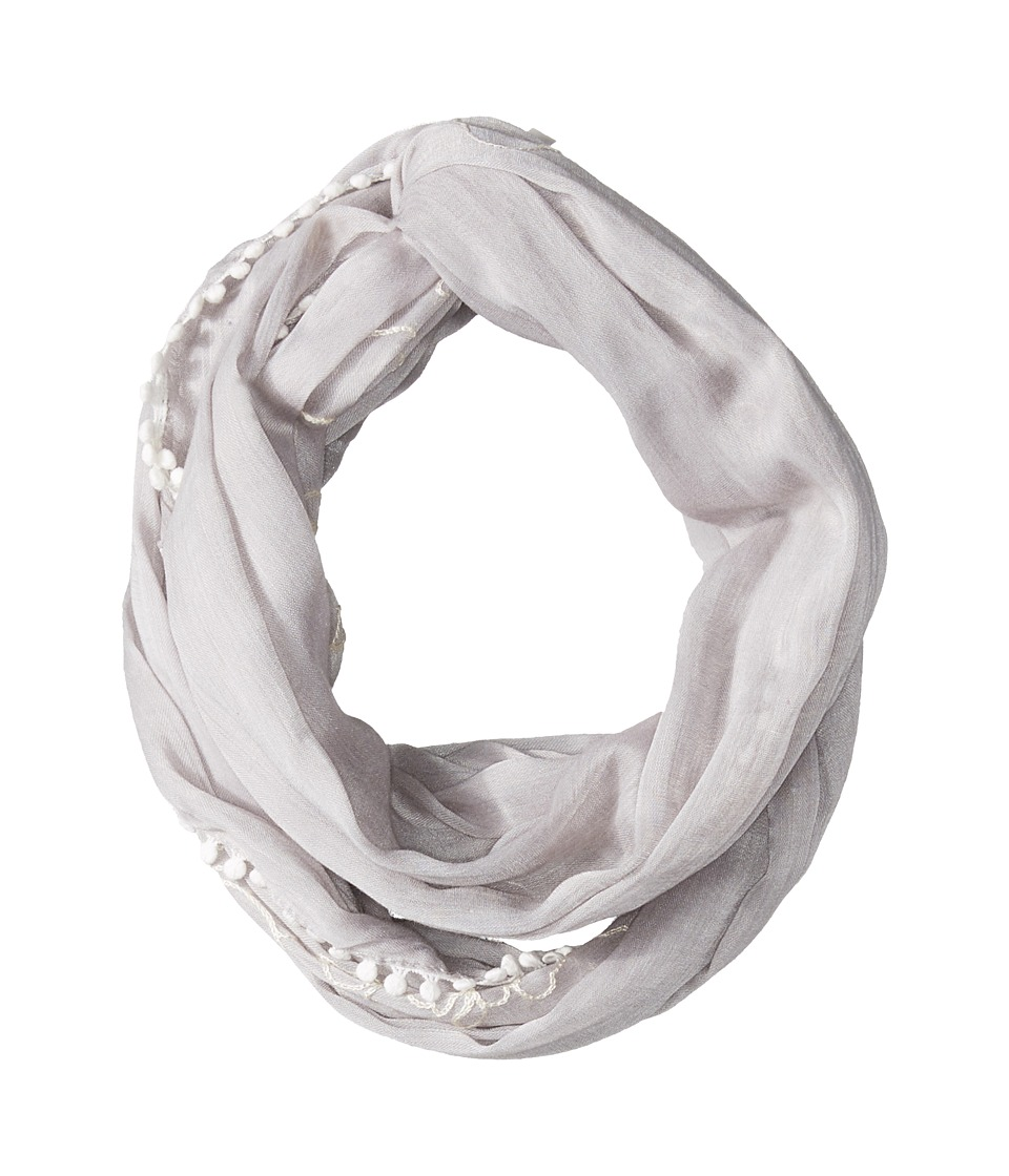 Calvin Klein - Embroidered Infinity Scarf (Grey) Scarves