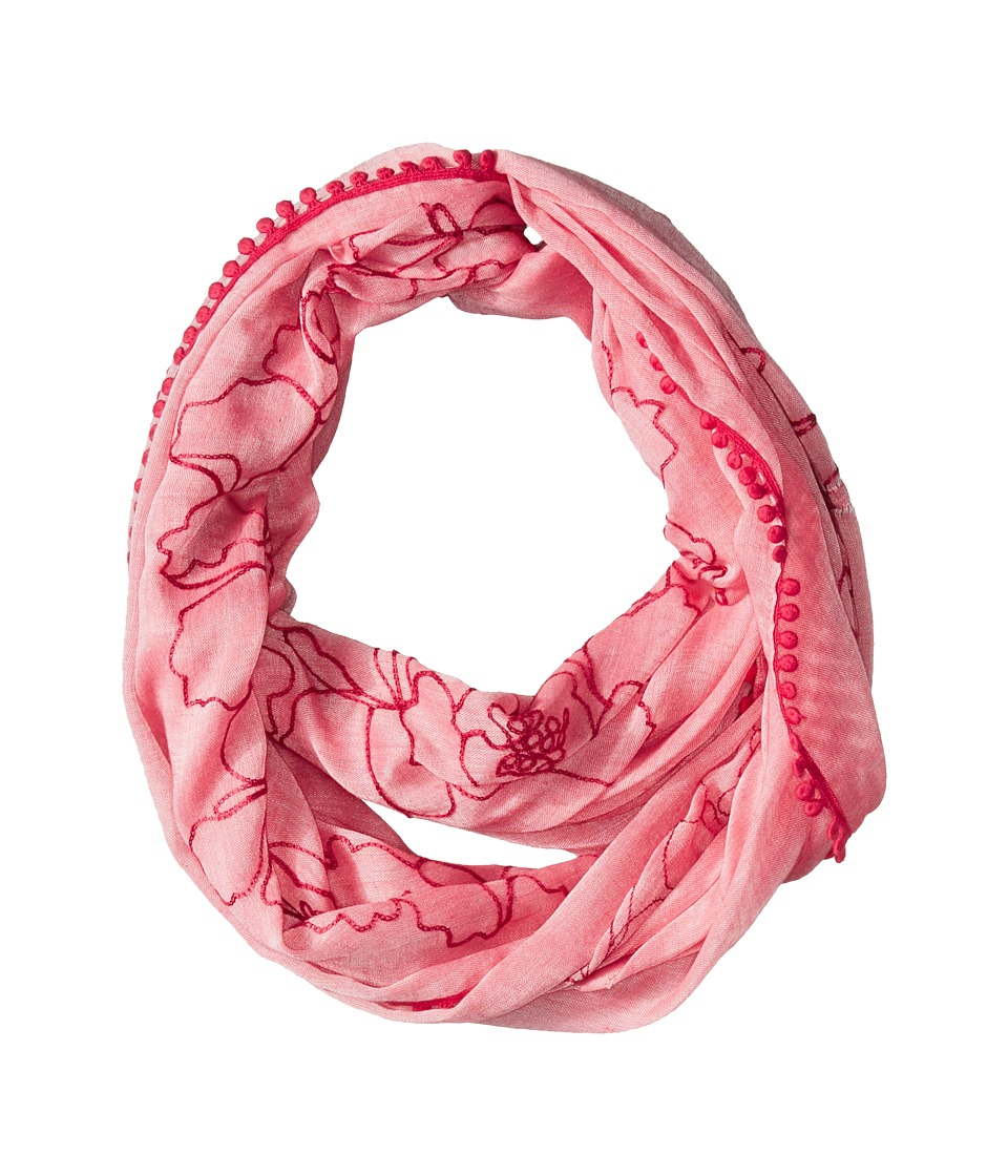 Calvin Klein - Embroidered Infinity Scarf (Watermelon) Scarves