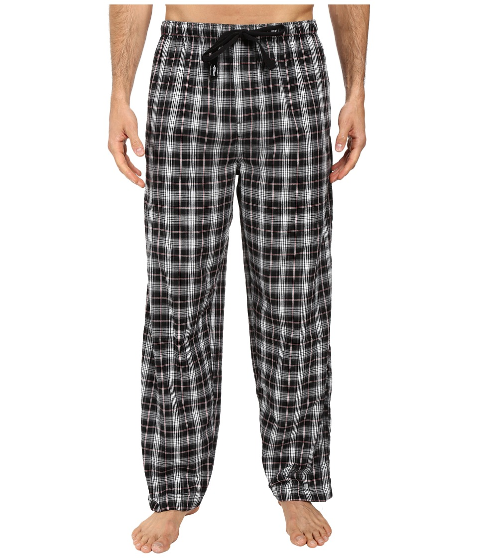 Jockey - Poly-Rayon Woven Pants (Ebony) Men's Pajama