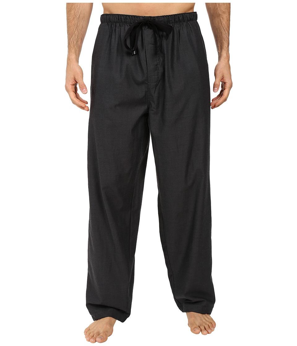 Jockey - Poly-Rayon Woven Pants (Black) Men's Pajama