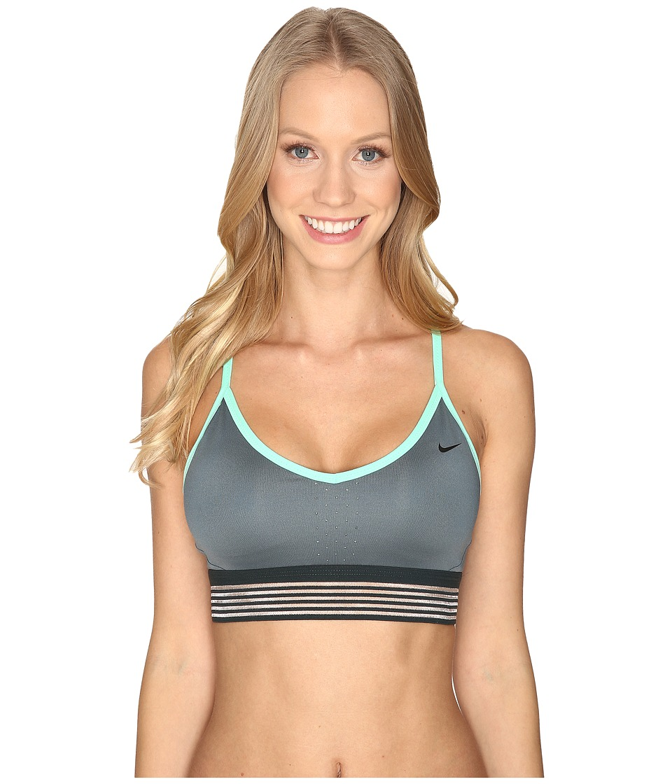 Nike - Pro Indy Cool Light Support Bra (Hasta/Green Glow) Women's Bra
