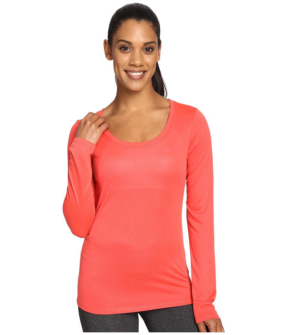 Nike - Dry Long Sleeve Training Top (Ember Glow) Women's T Shirt