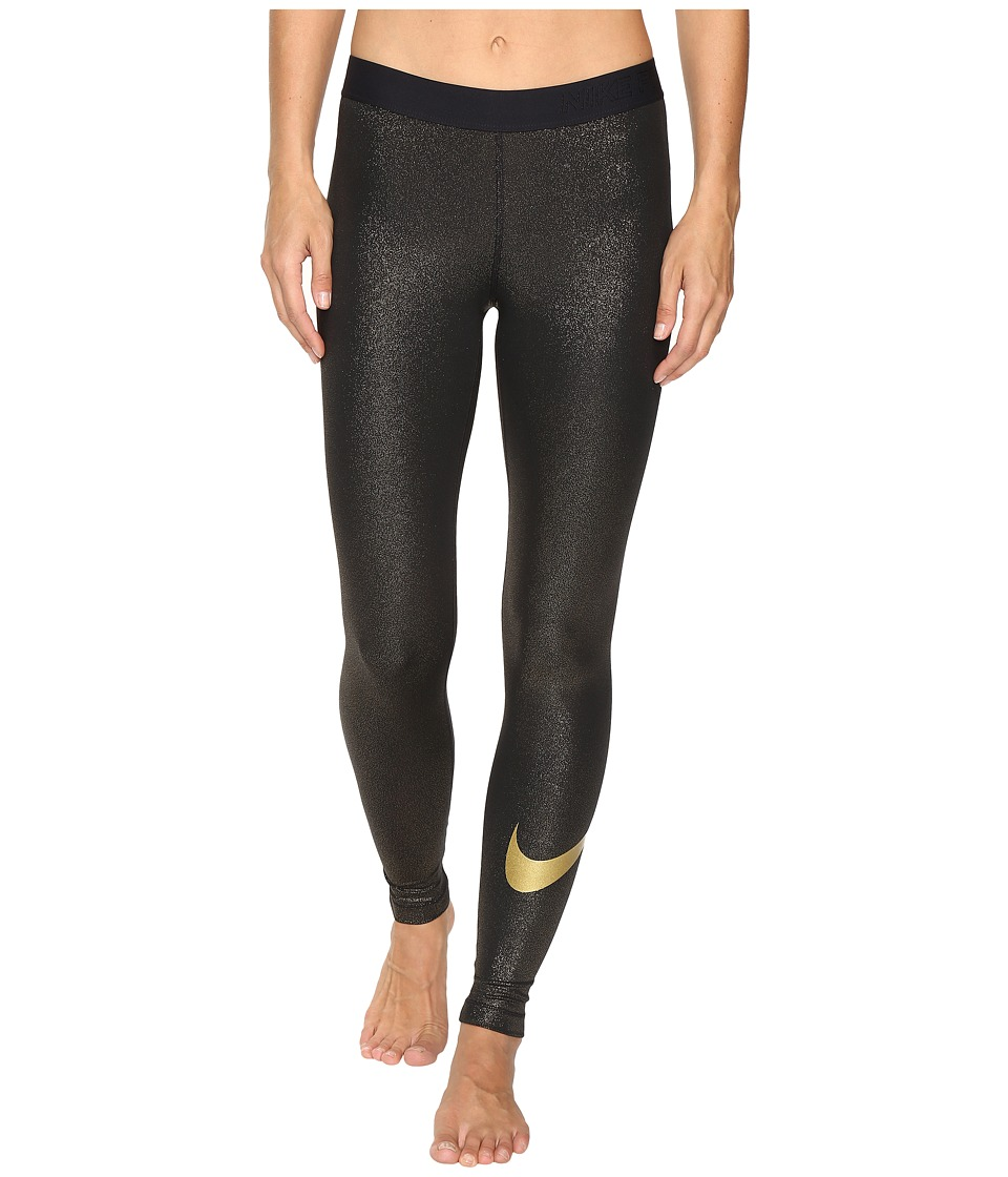 Nike - Pro Cool Training Tight (Black/Metallic Gold) Women's Workout