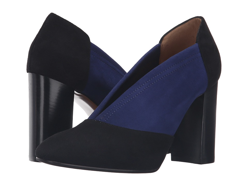 Aquatalia Valeria (Black/Midnight Suede) Women