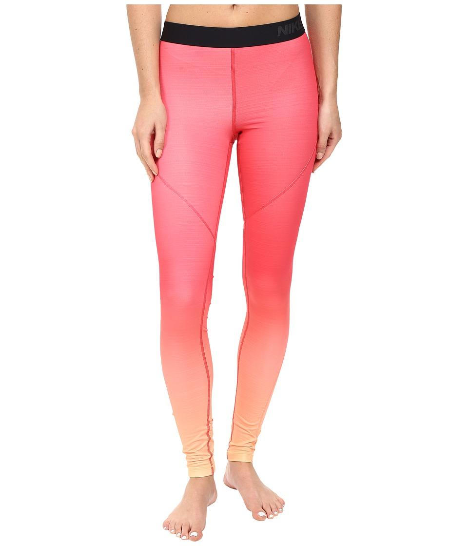 Nike - Pro Hyperwarm Training Tight (Peach Cream/Ember Glow/Peach Cream) Women's Workout