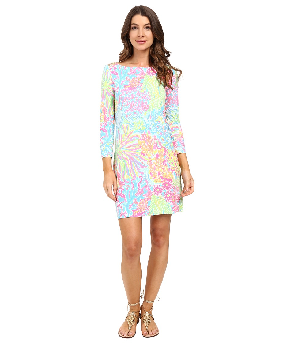 Lilly Pulitzer - UPF 50+ Sophie Dress (Pool House Blue Lovers Coral) Women's Dress