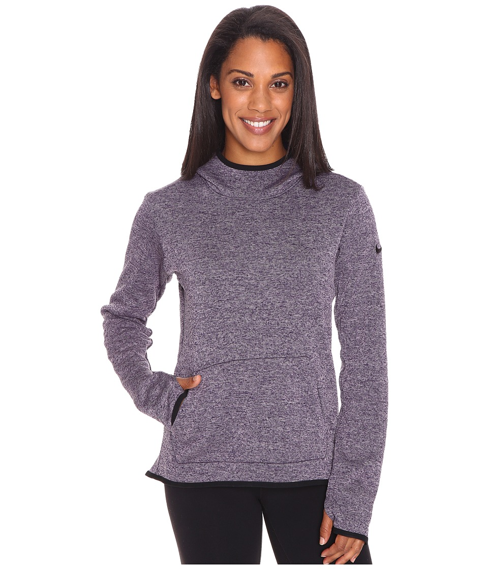 Nike - Therma Pullover Hoodie (Purple Dynasty/Heather/Black/Black) Women's Sweatshirt