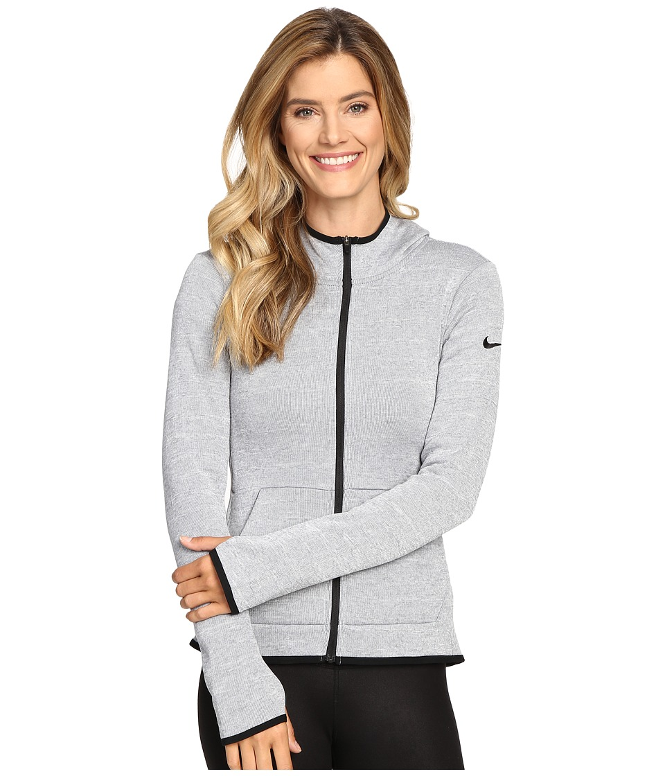 Nike - Therma Full-Zip Hoodie (Cool Grey/Heather/Black) Women's Sweatshirt