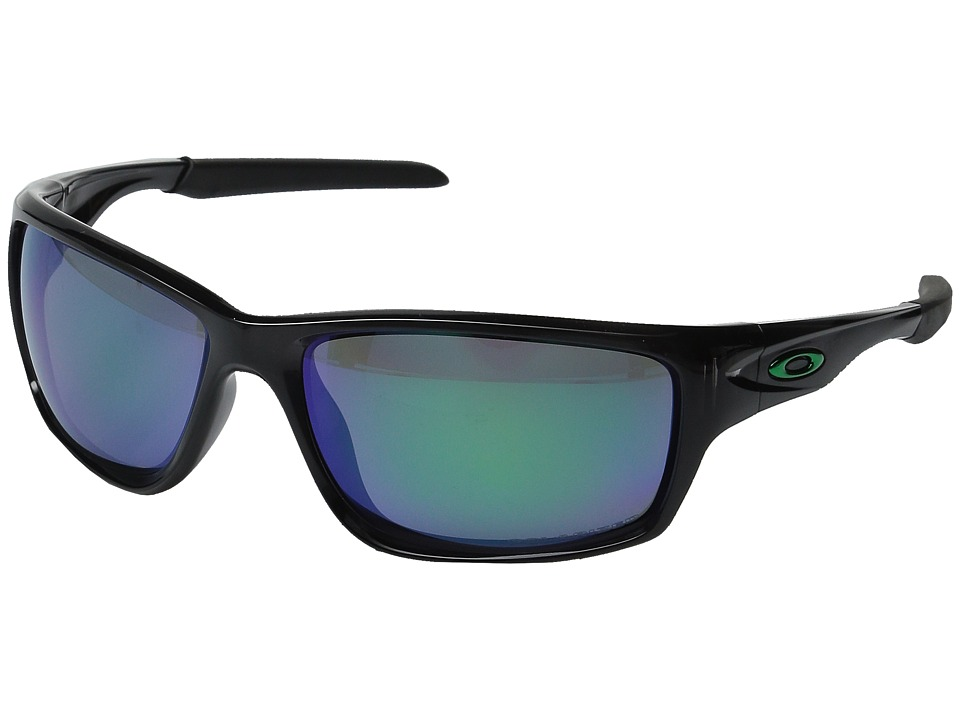 Oakley - Canteen Polarized (Black Ink w/ Jade Iridium) Sport Sunglasses