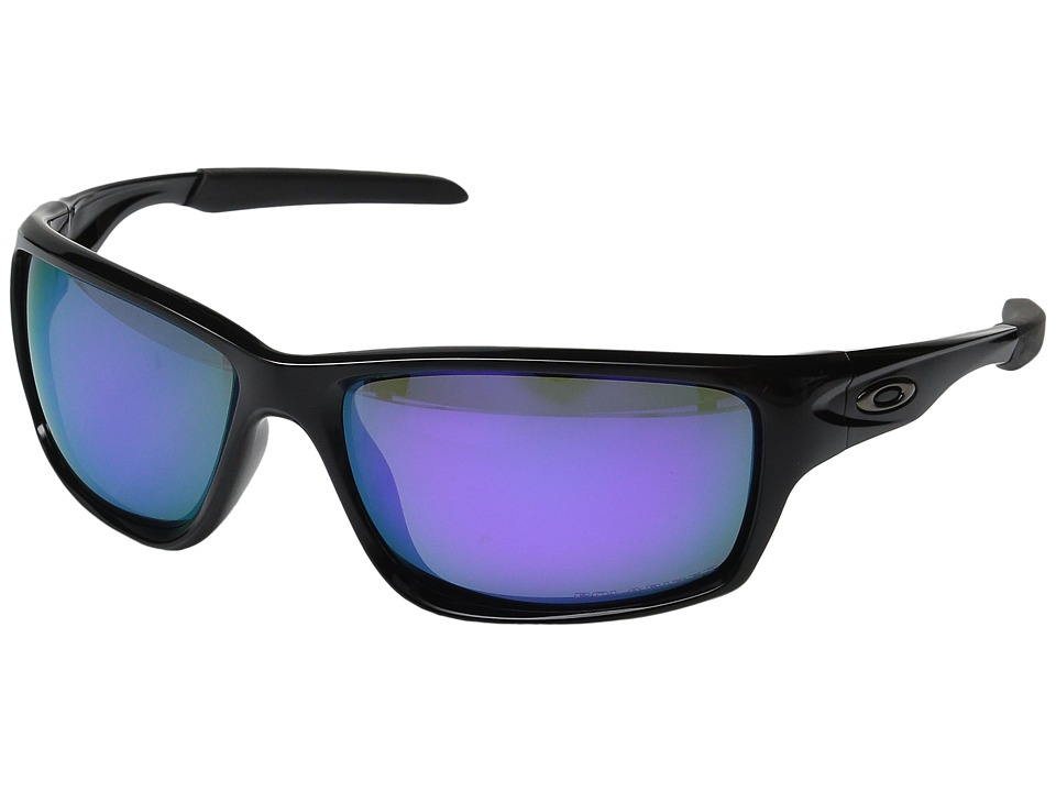 Oakley - Canteen Polarized (Polished Black w/ Violet Iridium) Sport Sunglasses
