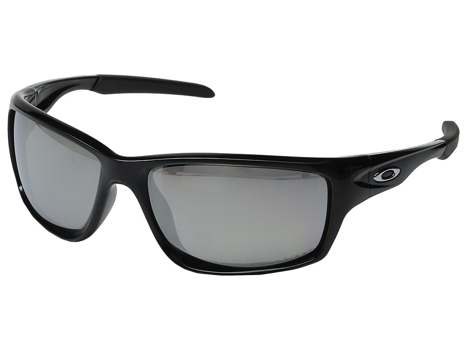 Oakley - Canteen Polarized (Polished Black w/ Chrome Iridium) Sport Sunglasses