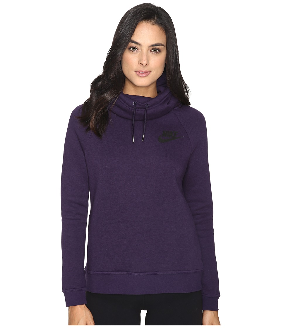 Nike - Rally Pullover Hoodie (Purple Dynasty/Purple Dynasty/Black) Women's Sweatshirt