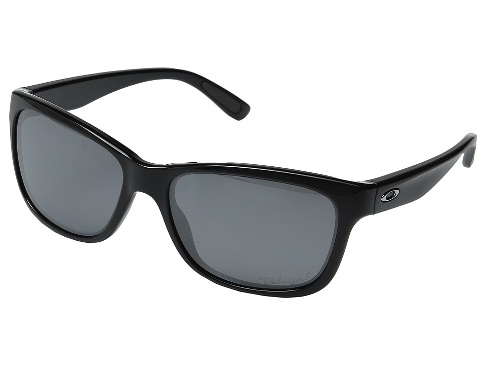 Oakley - Forehand Polarized (Polished Black/Black Iridium) Sport Sunglasses