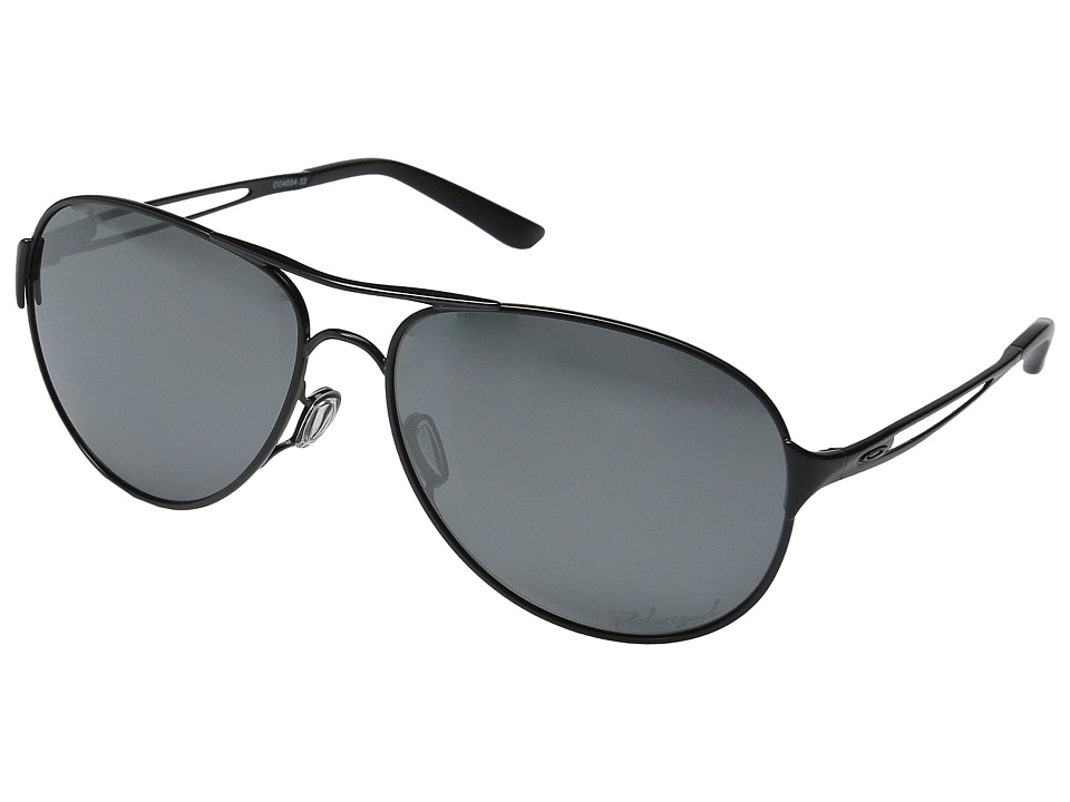 Oakley - Caveat Polarized (Polished Black/Black Iridium) Sport Sunglasses