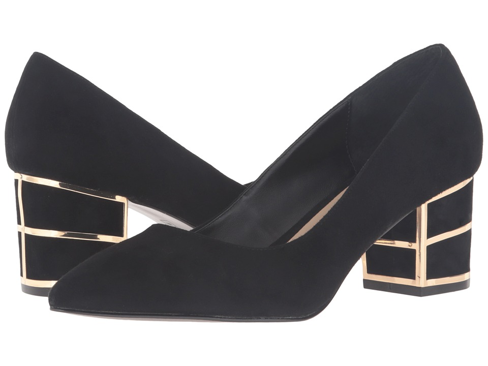 Steven Buena (Black Suede) High Heels
