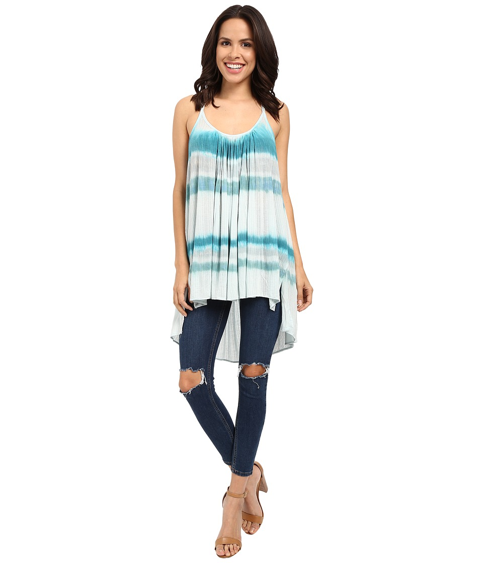 Free People - Fly By Tank Top (Blue) Women's Sleeveless