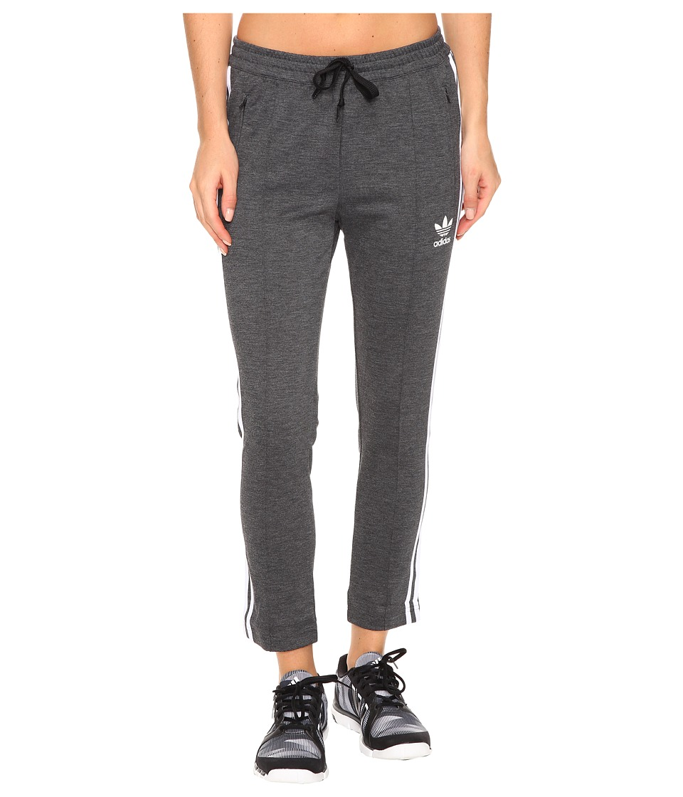 adidas Originals - Cigarette Pants (Dark Grey Heather/White) Women's Casual Pants