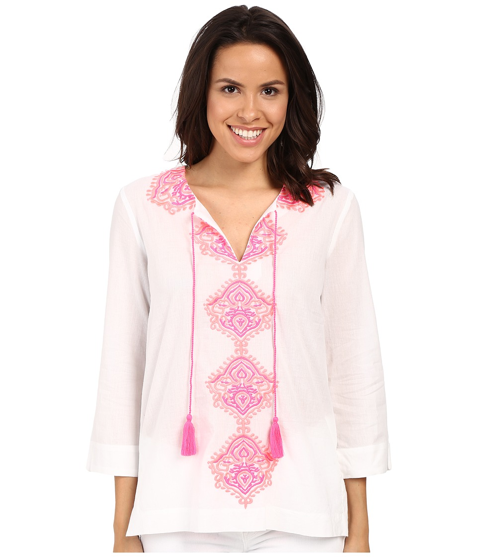 Lilly Pulitzer - Amelia Island Tunic (Resort White) Women's Blouse