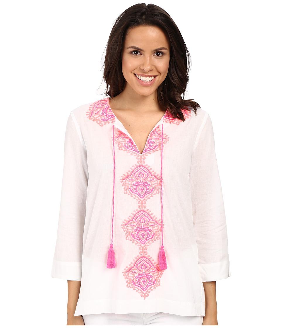 Lilly Pulitzer - Amelia Island Tunic (Resort White) Women's Blouse