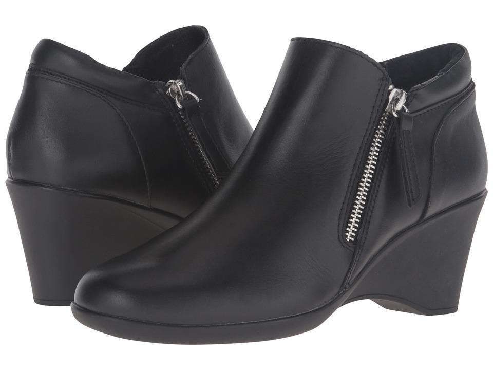 Steven - Karrie (Black Leather) High Heels