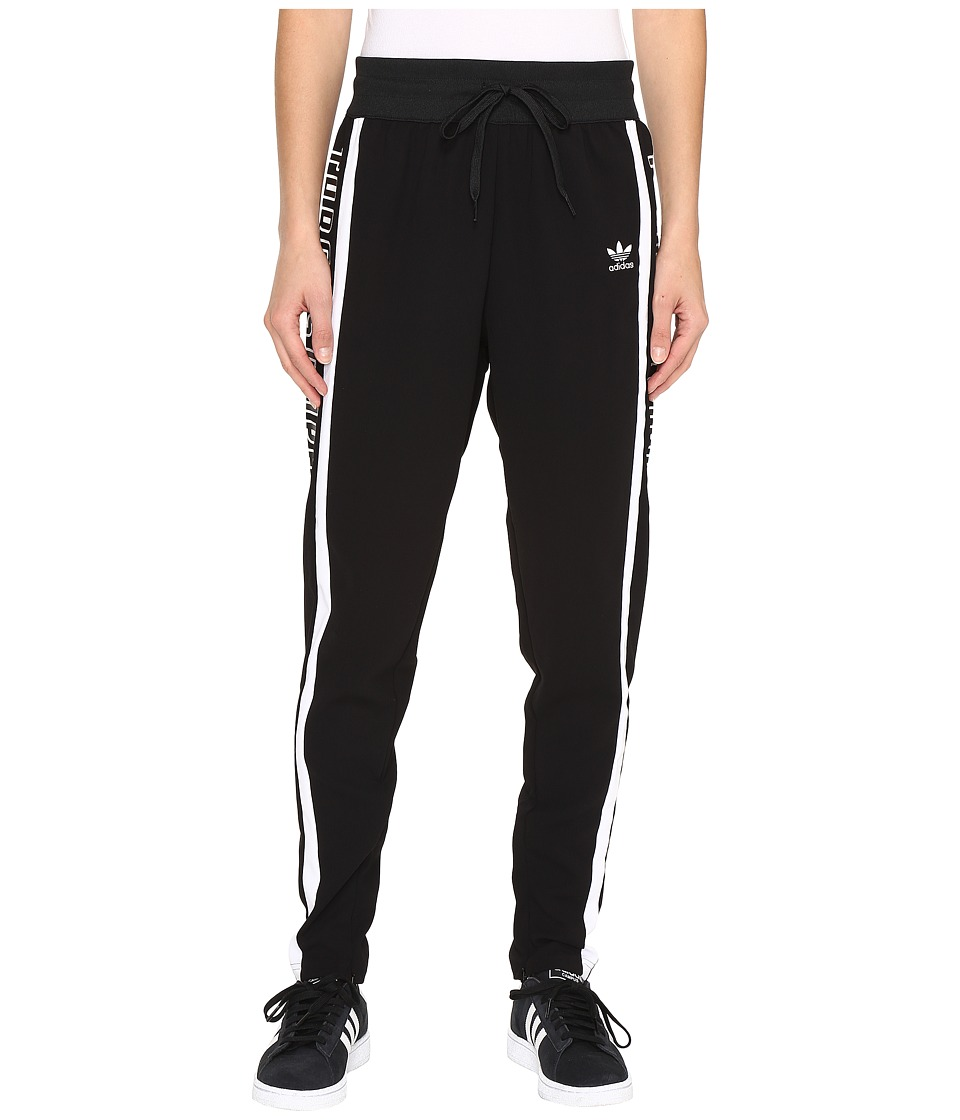 adidas Originals - 3-Stripes Low Crotch Track Pants (Black/White/Black) Women's Workout