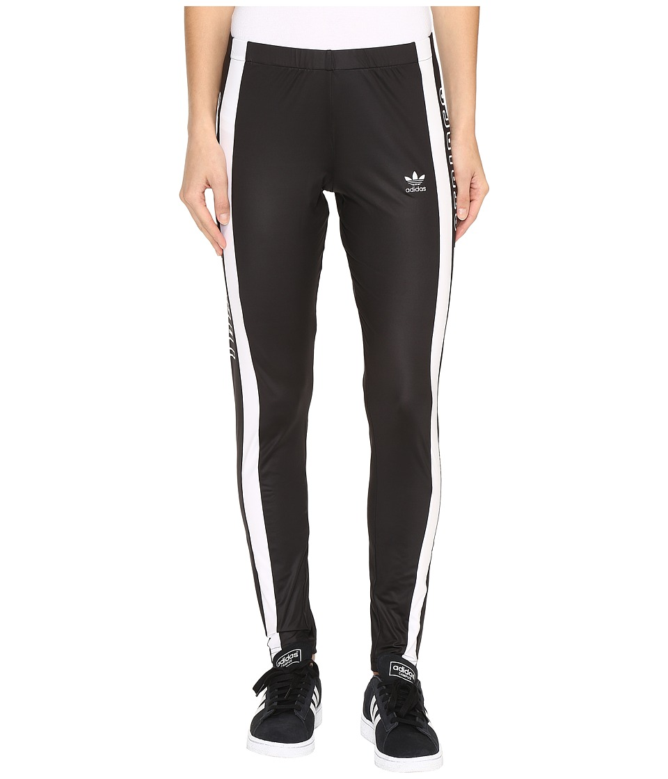 adidas Originals - 3-Stripes Tights (Black/White) Women's Workout