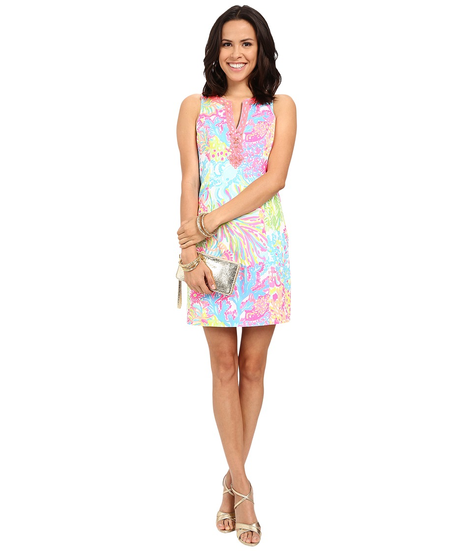Lilly Pulitzer - Ryder Shift Dress (Multi Lovers Coral) Women's Dress
