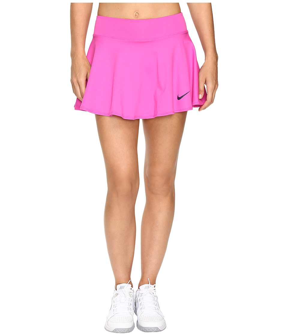 Nike Court Baseline Tennis Skirt (Fire Pink/Purple Dynasty) Women