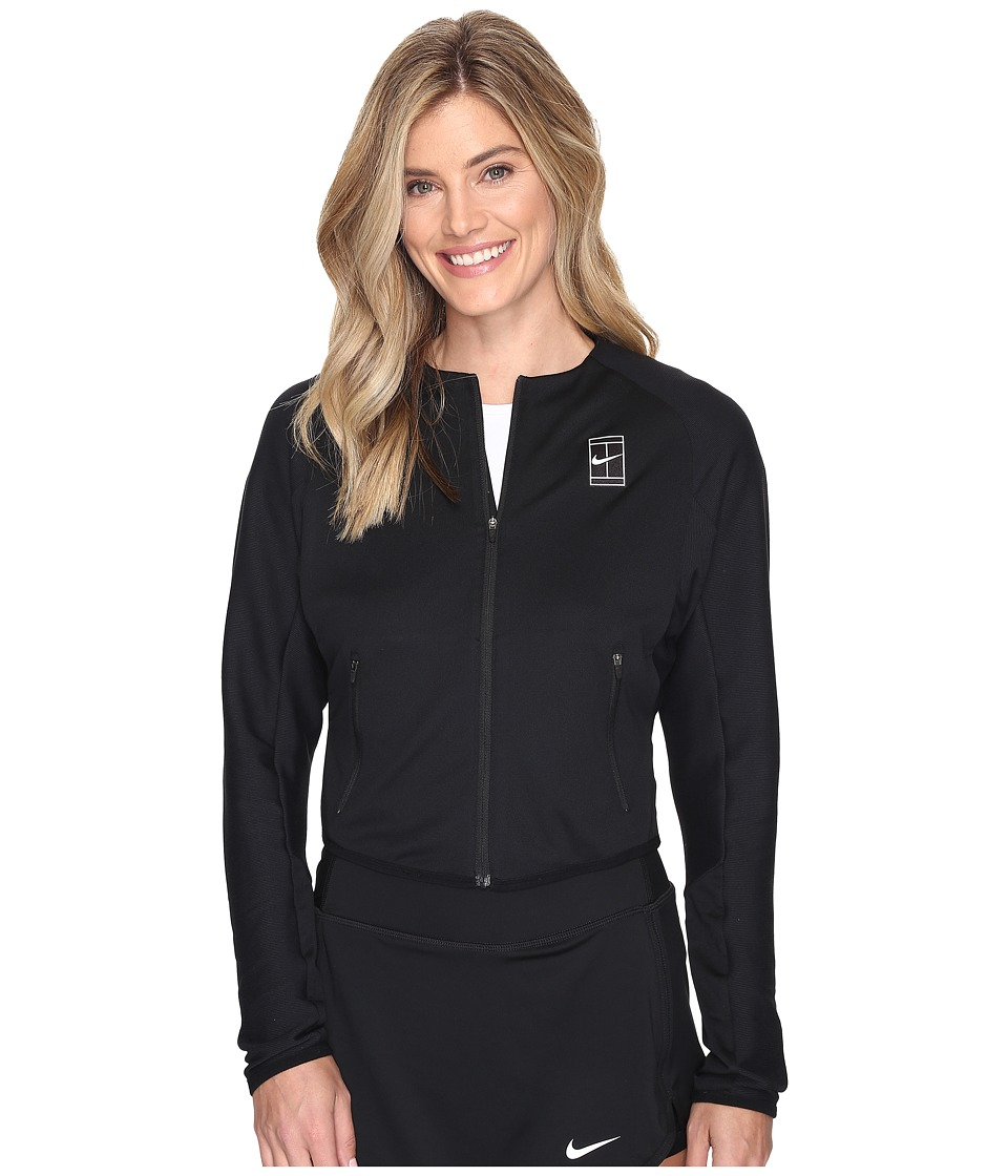 Nike - Court Tennis Jacket (Black/White) Women's Coat