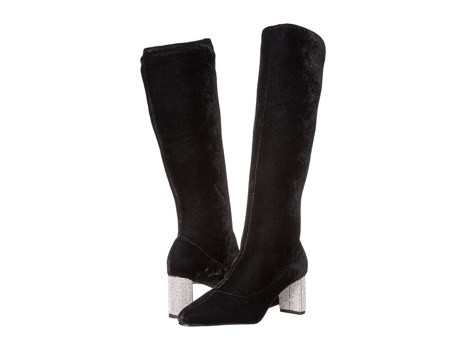 Caparros - Eloquent (Black Stretch Velvet) Women's Boots