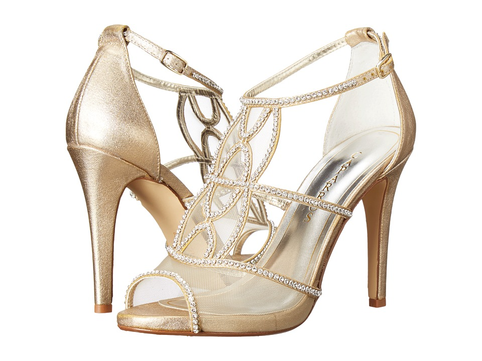 Caparros Ellen (Gold Metallic Fabric) High Heels