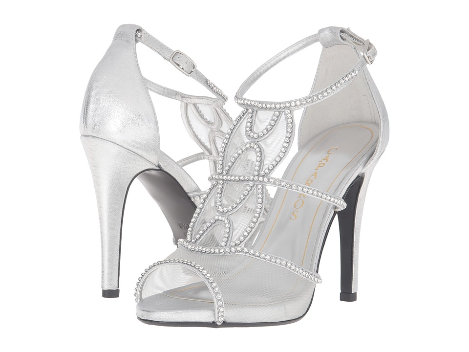 Caparros Ellen (Silver Metallic Fabric) High Heels