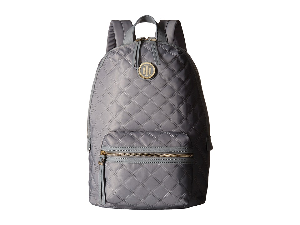 Tommy Hilfiger - TH Quilted - Backpack (Frost Gray) Backpack Bags