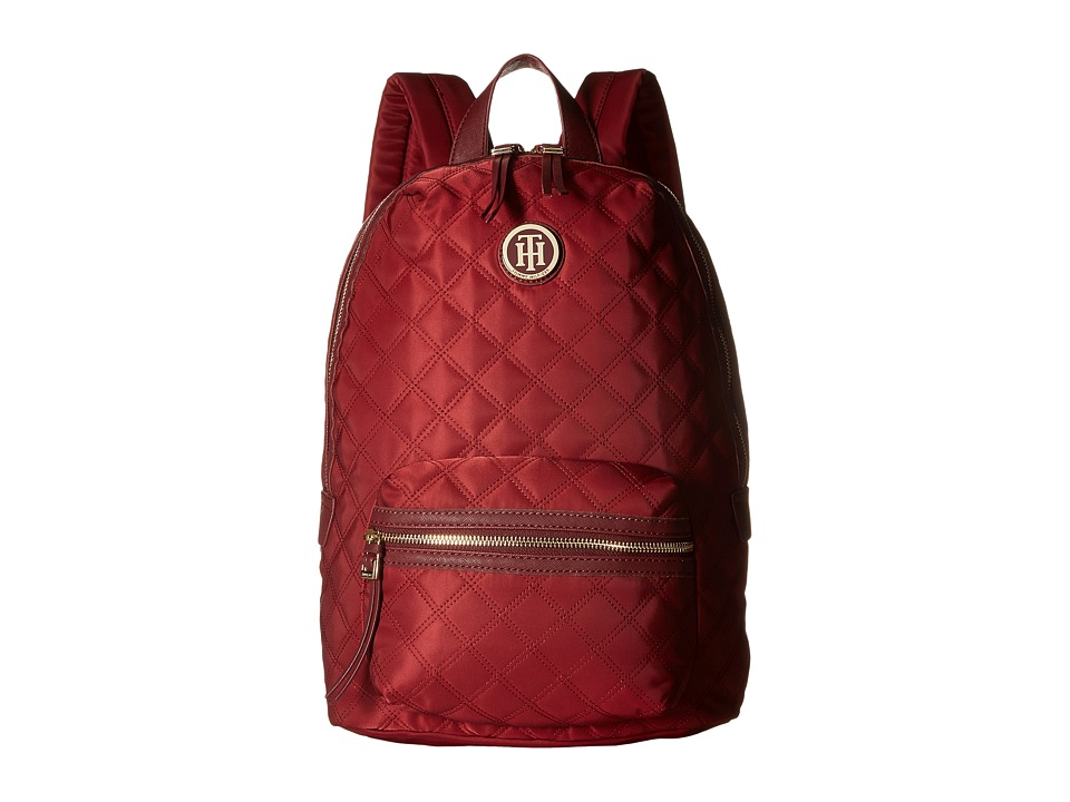 Tommy Hilfiger - TH Quilted - Backpack (Cabernet) Backpack Bags