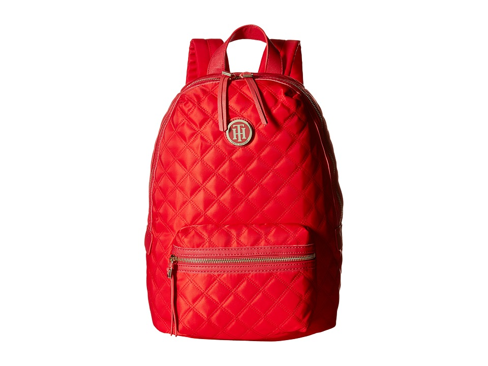 Tommy Hilfiger - TH Quilted - Backpack (Racing Red) Backpack Bags