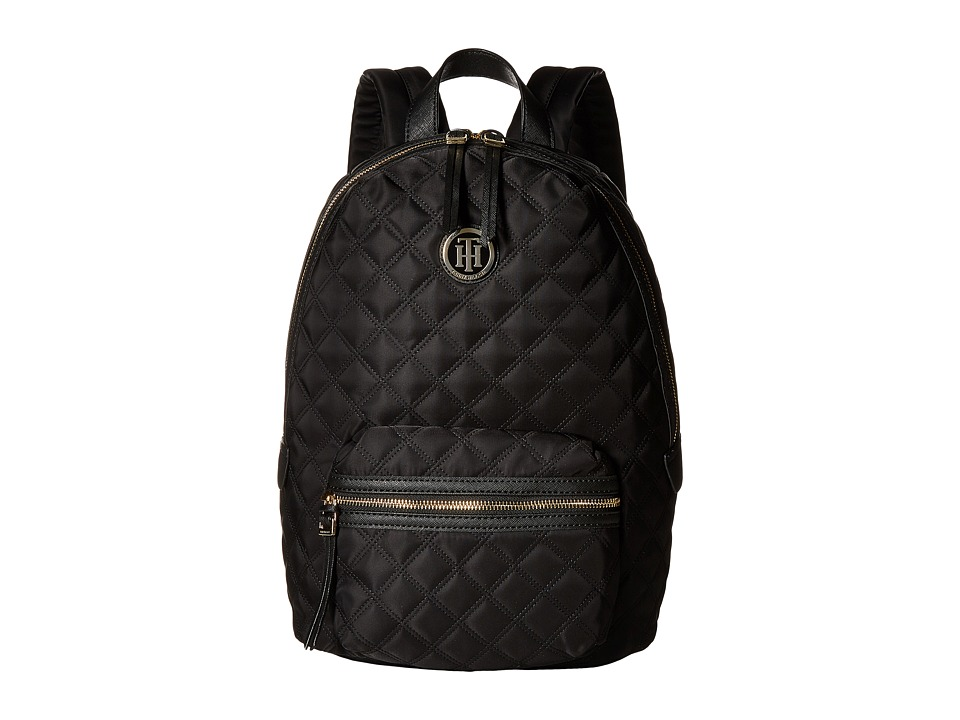 Tommy Hilfiger - TH Quilted - Backpack (Black) Backpack Bags