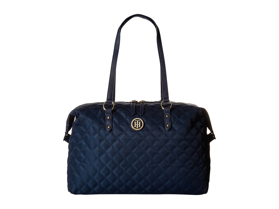 Tommy Hilfiger - TH Quilted - Weekender (Navy) Weekender/Overnight Luggage