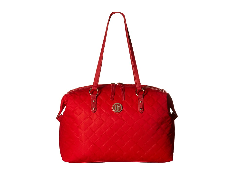 Tommy Hilfiger - TH Quilted - Weekender (Racing Red) Weekender/Overnight Luggage