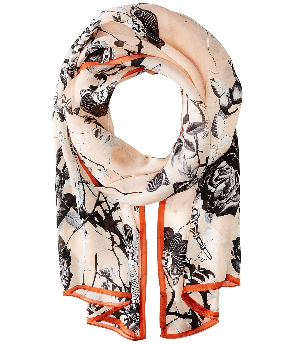 Roberto Cavalli - Night Garden Silk Stole (Candy) Scarves