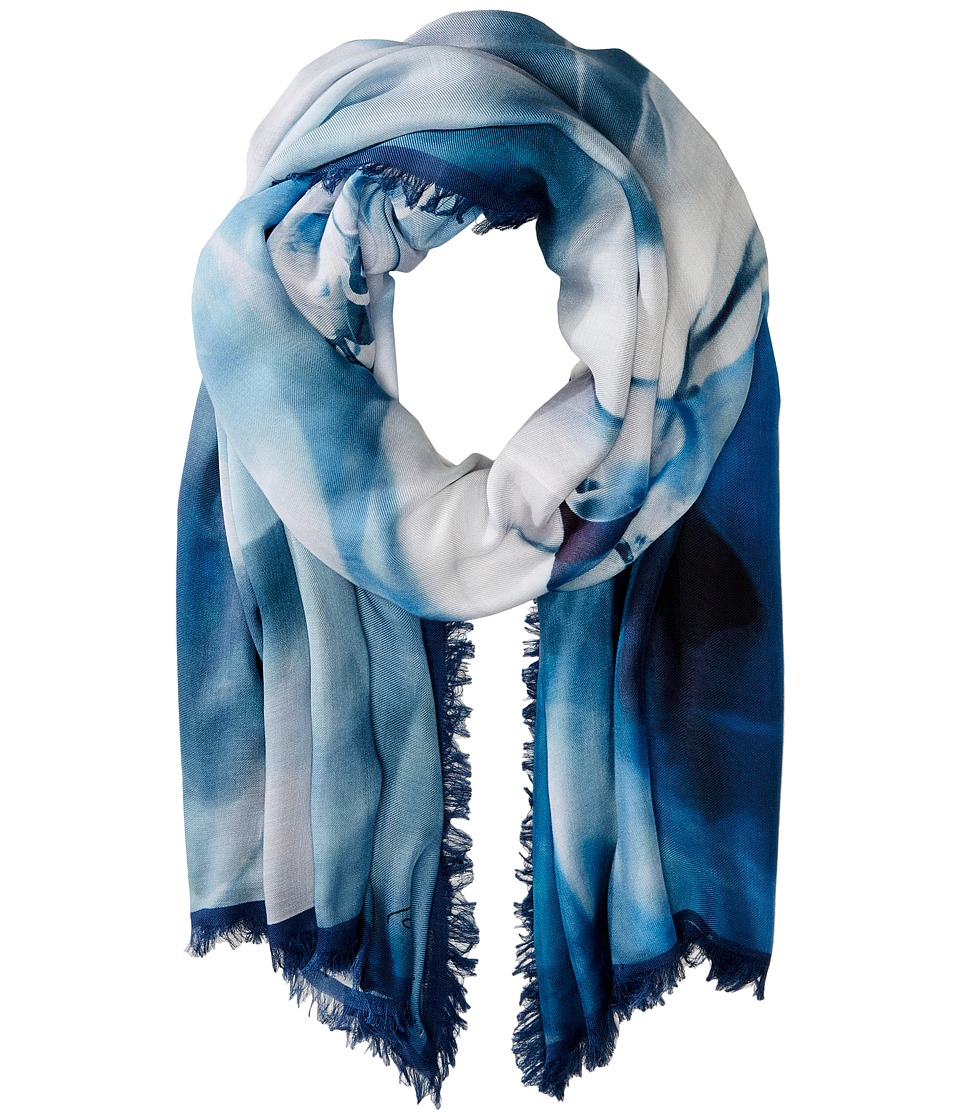 Roberto Cavalli - Sky Horse Modal Shawl (Blue) Scarves