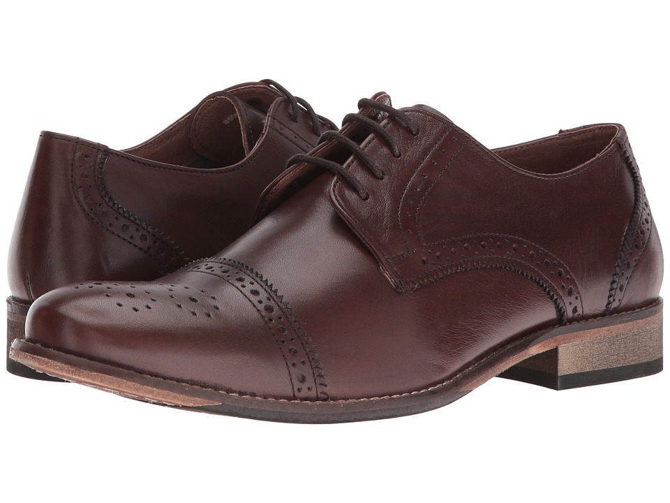 Lotus - Hargreaves (Brown Leather) Men's Lace Up Wing Tip Shoes