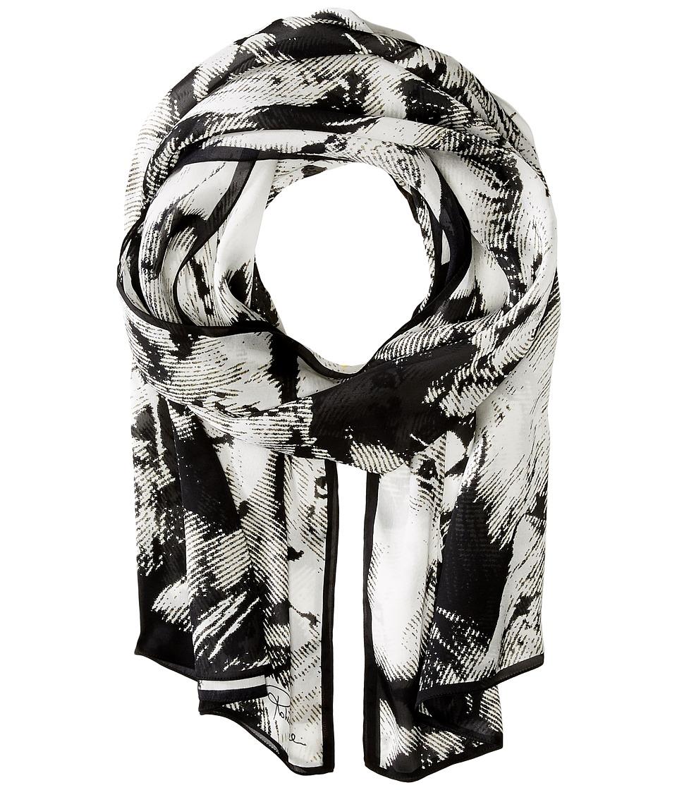 Roberto Cavalli - Leo Camouflage Silk Stole (Olive) Scarves