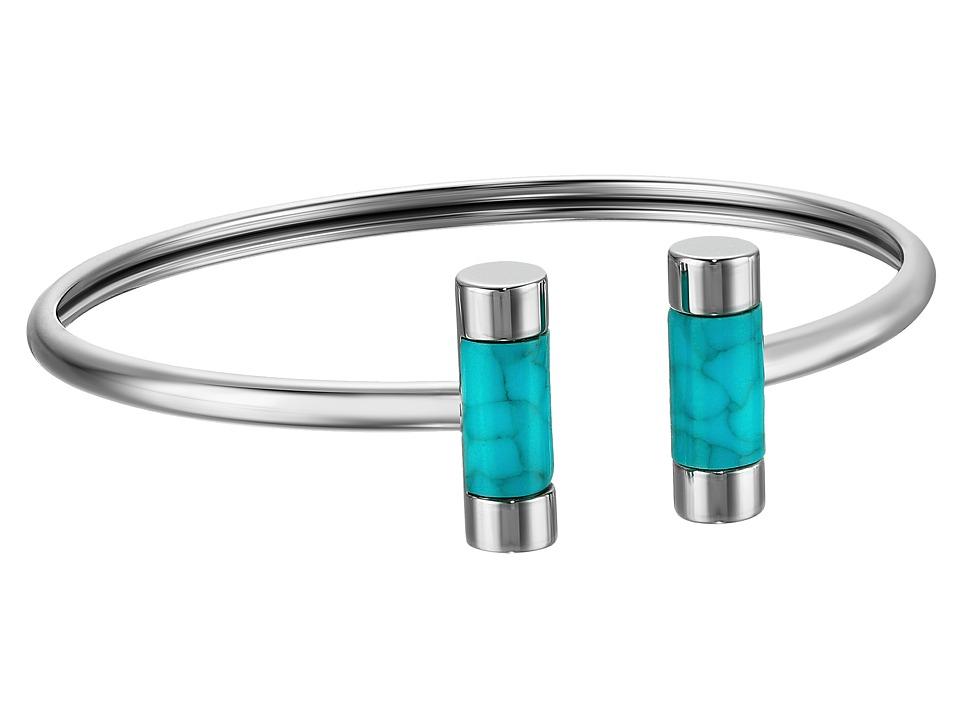 Michael Kors - Color Block Bracelet (Silver/Turquoise) Bracelet