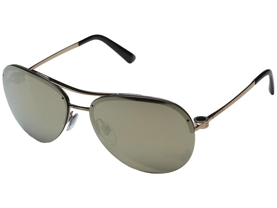 Prada Linea Rossa - 0PS 57RS (Pale Gold/Light Green Mirror Blue) Fashion Sunglasses
